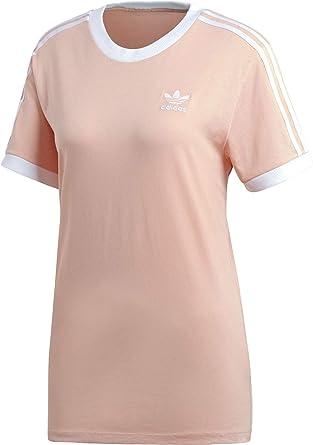 adidas Originals – Boyfriend T Shirt in Khaki mit Kleeblatt