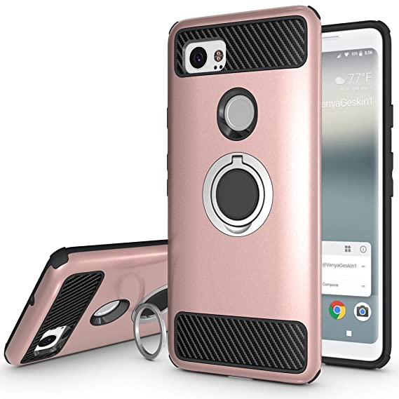 brand new 4fb57 83b16 Google Pixel 2XL Case,Google Pixel XL2 Case with Kickstand,Amagle 360  Degree Rotating Ring Grip,Amagle Dual Layer Shockproof Impact Protection  Case ...