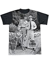 Show 1960's TV Sitcom Lawmen of Mayberry Adult Black Back Tee