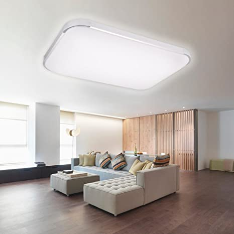 AGM 80W LED Lámpara de Techo Regulable con Control Remoto para Salón Dormitorio Estudio Cocina