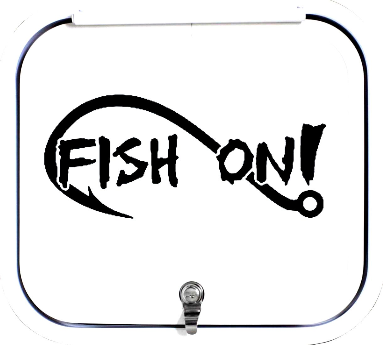 A1154 Fish On Bass Fishing Decal Sticker Bluegrass Decals White