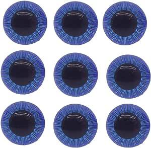 Pair BlueGreyGreen Doll Eyes Realistic Toy Eyes 15 mm