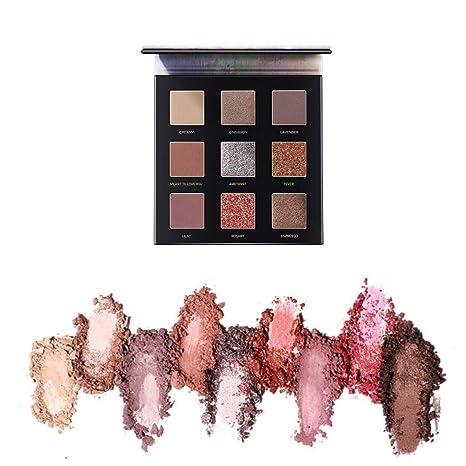 7f3beebaf438 Amazon.com: ZYC 9 Colors Professional Eyeshadow Palette Matte ...