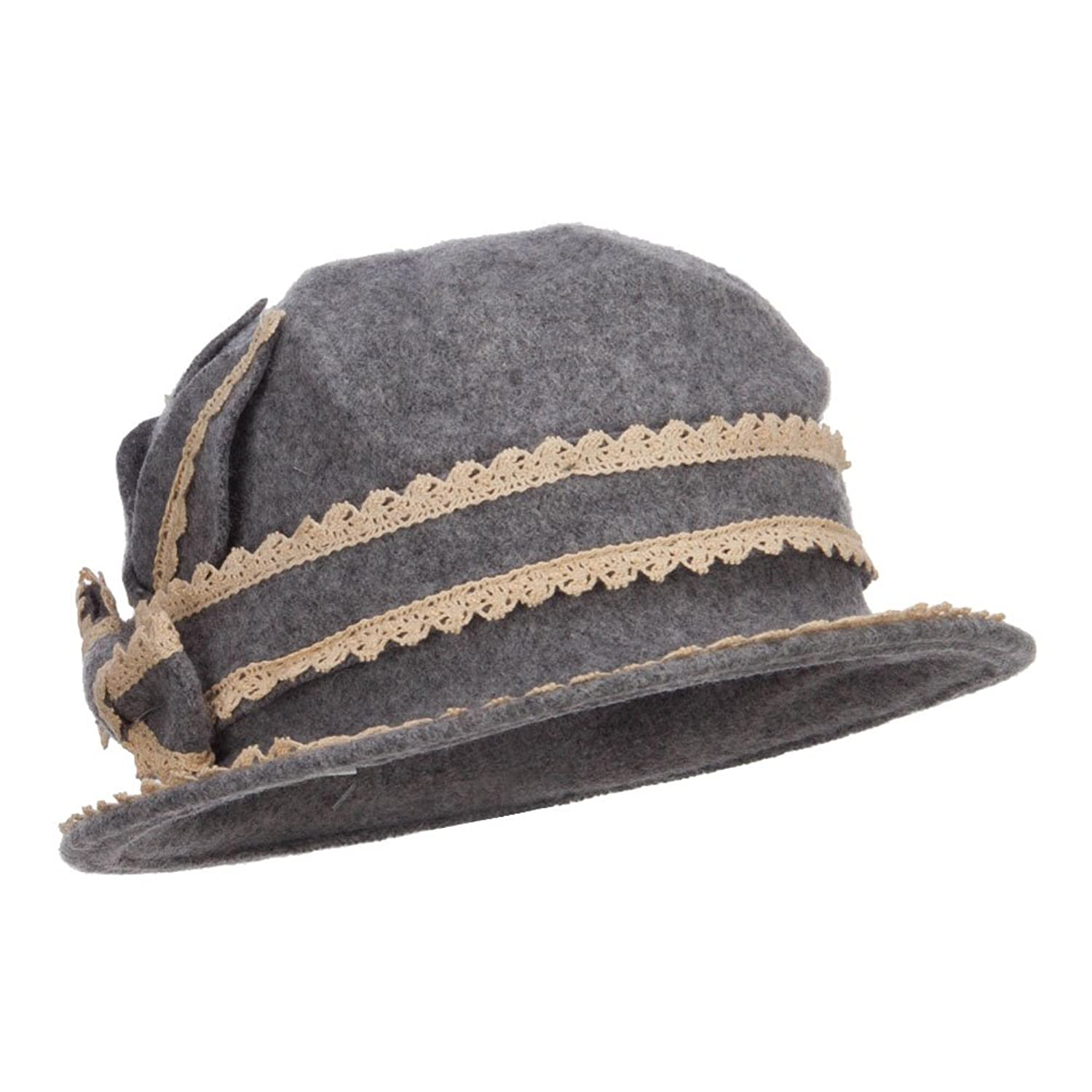 Women's Dressy Laced Wool Bucket Hat