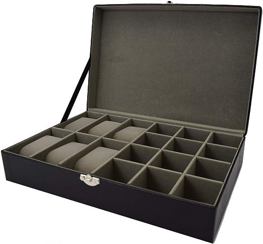 Harvey Makin - Caja para reloj y gemelos con acabado de efecto ...