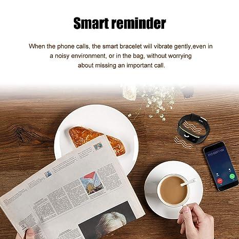 Pulsera de Fitness Touch Smart, con medidor de frecuencia cardíaca, tensiómetro de tensión Arterial, podómetro, Banda de Fitness Inteligente, Android, iOS y ...