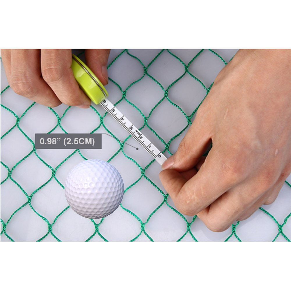 10' High X 20' Wide Golf Barrier & Containment Netting, For Golf Baseball Softball Hockey Lacrosse Soccer Basketball Tennis Multipurpose-Free 100pcs Zip Ties Cable