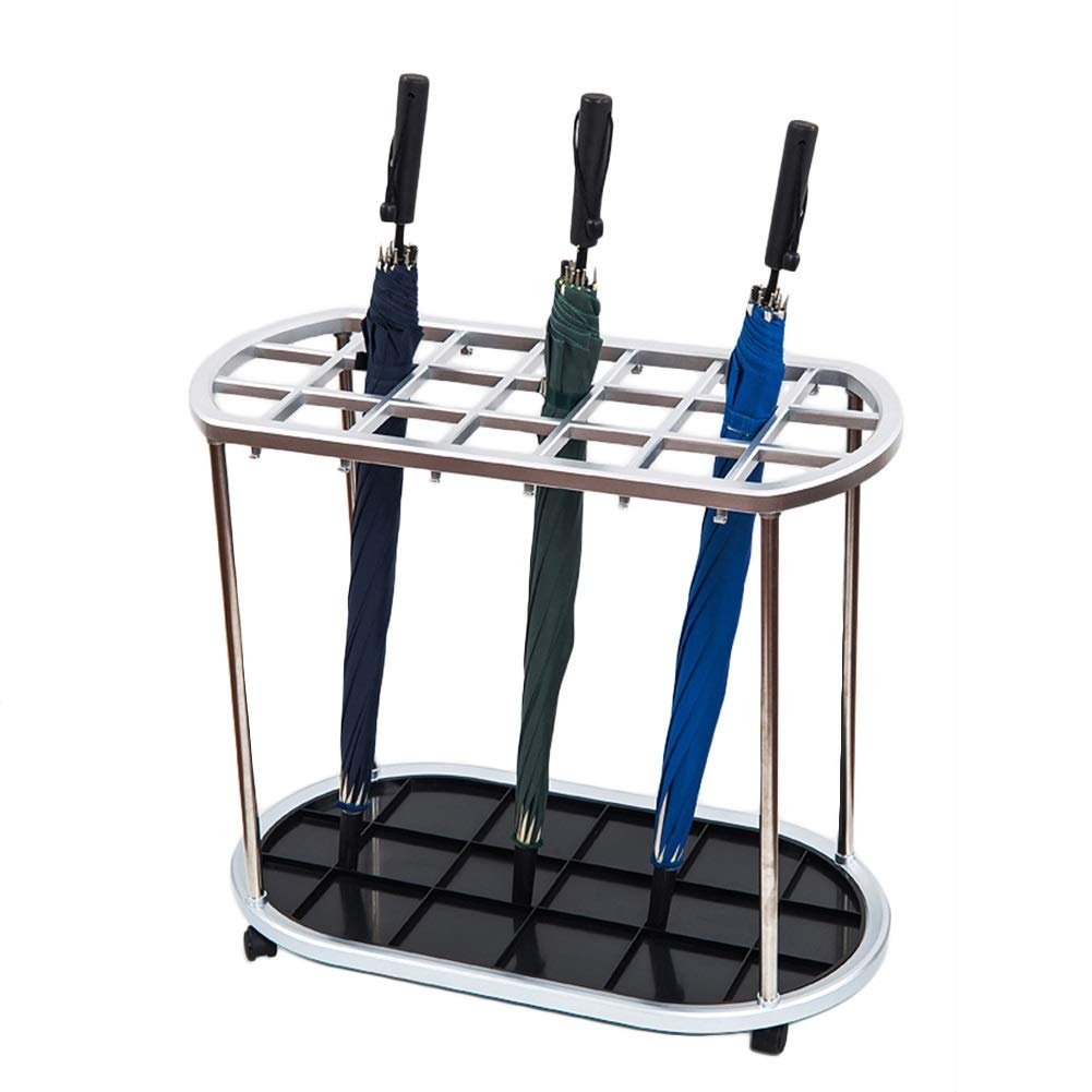 Large Umbrella Stand Rack for Entryway, 21-Slot Holder and 12 Hooks, Umbrella Holder for Home Décor with Removable Drip Tray