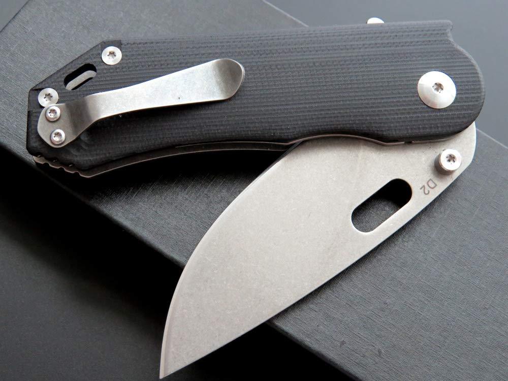 Eafengrow Pocket Knives D2 Blade G10 Handle Folding Camping Knife Mini Outdoor Pocket Knife Survival Tool (EF32-black) by Eafengrow (Image #8)