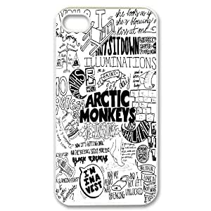FOR Iphone 4 4S case cover -(DXJ PHONE CASE)-Arctic Monkeys Rock Music Band - Love Music-PATTERN 4