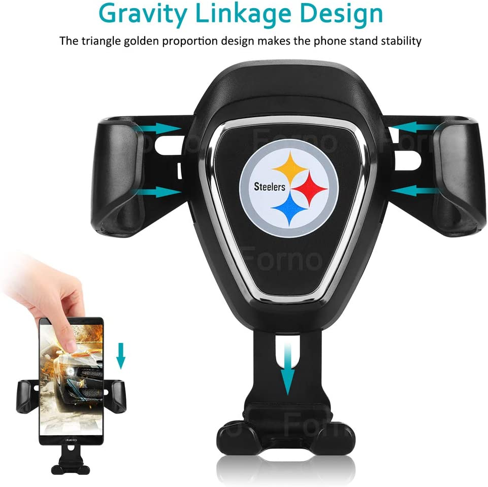 for Dallas Cowboys Car Mount Phone Holder Automatic Locking Universal Air Vent GPS Cell Phone Holder for Dallas Cowboys
