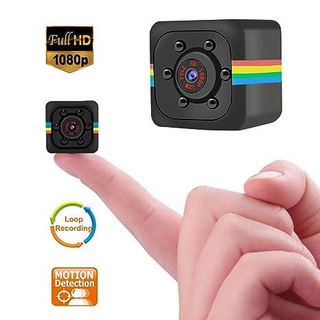 Mini cámara espía, Bysameyee 720p / 1080p videocámara oculta con detección de movimiento IR Night Vision, ...