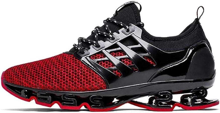 ASDFGH Zapatillas de Running para Hombre, Zapatillas de Deporte Transpirables y con absorción de Golpes Zapatillas de Tenis para Correr en Pista de Tenis para Adultos,Red,41: Amazon.es: Hogar