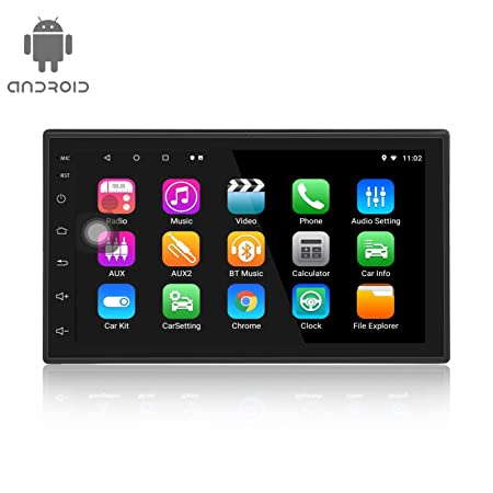 Lexxson Android 8.1 Car Radio 1024×600 GPS Navigation Bluetooth USB Player 1G DDR3 16G NAND Memory Flash with Extra Microphone RM-CT1018-1G16