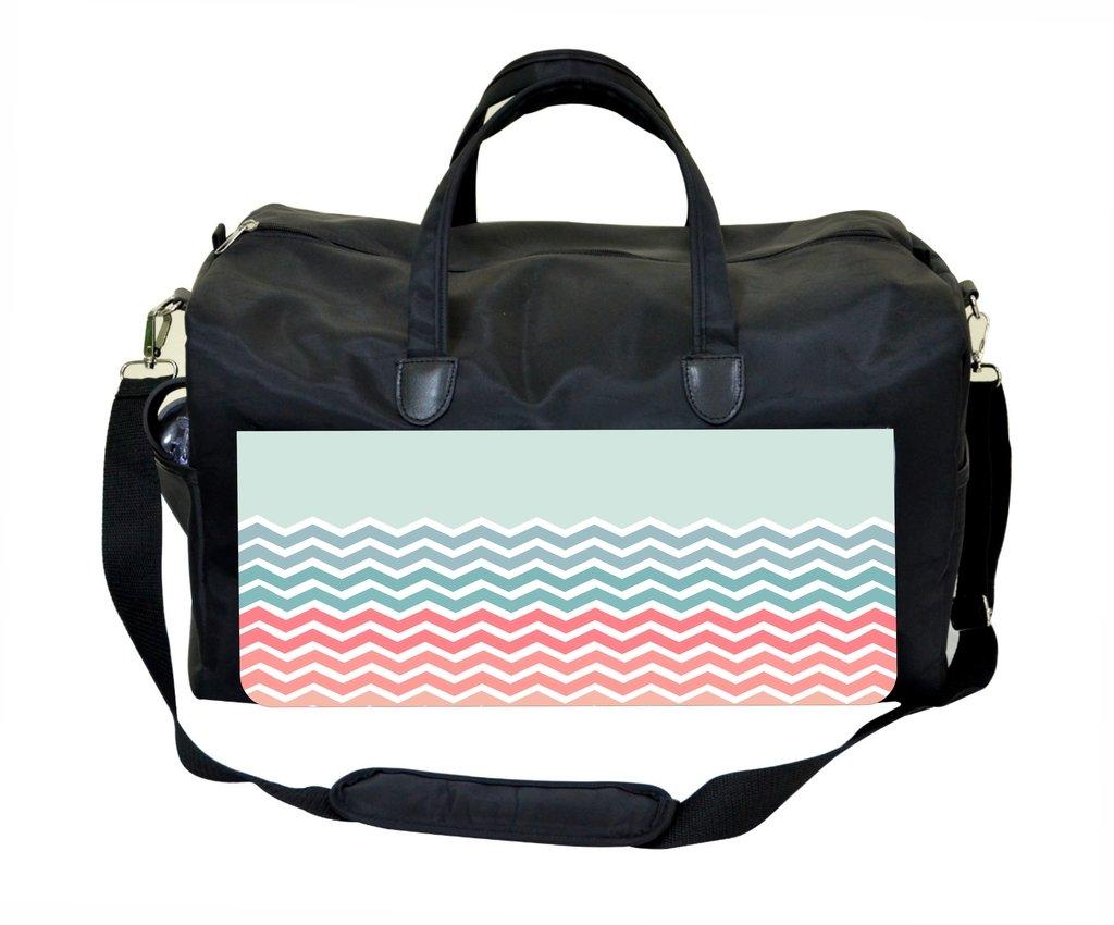Jacks Outlet Pastel Chevrons Gym Bag