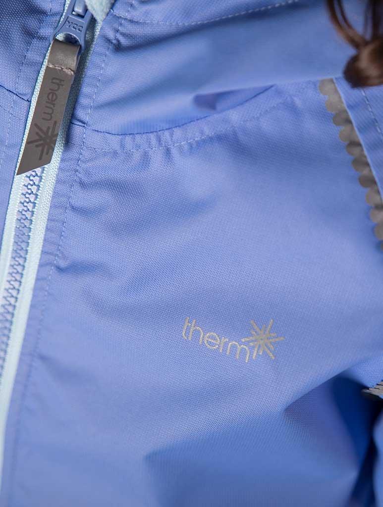 Lightweight Waterproof Girls Rain Jacket with Magic Pattern Therm SplashMagic Raincoat