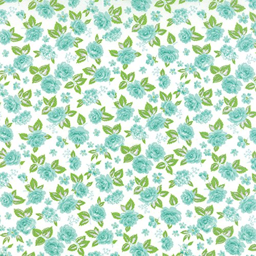 Medium Berrilicious Blue Floral, Cream Background, Sew and Sew, Chloe's Closet, Moda, By the Yard by MODA