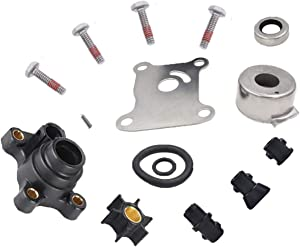 Impeller Water Pump Repair Kit for Johnson Evinrude 394711, 0394711, 18-3327, 386697, 391698, 389112, 387610, 1974-UP, 9.9-15 HP Outboard Water Pump Kit with Housing, by NAKAO