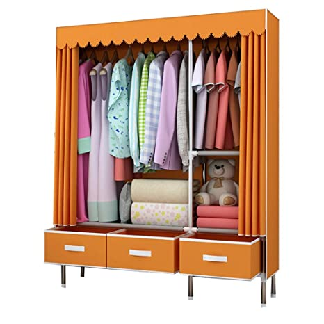 Amazon.com: TangMengYun Indoor Portable Closet with Drawer ...