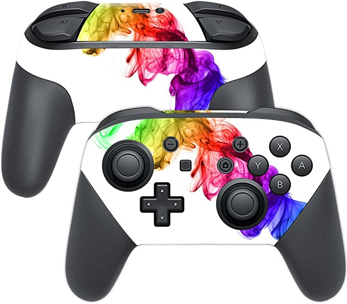 Nintendo Switch Pro Controller Fortnite Skin Amazon Com Mightyskins Skin Compatible With Nintendo Switch Pro Controller Rainbow Smoke Protective Durable And Unique Vinyl Decal Wrap Cover Easy To Apply Remove And Change Styles Made In The Usa