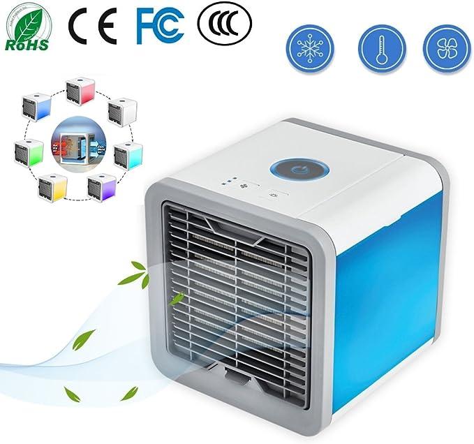 aire acondicionado portátil, 3-en-1 Mini evaporativo humidificador ...