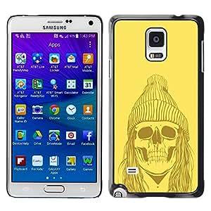 TopCaseStore / la caja del caucho duro de la cubierta de protección de la piel - Skull Zombie Dead Man Face Ghost Art Drawing - Samsung Galaxy Note 4 SM-N910