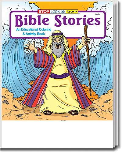 Bible Stories Kid's Educational Coloring & Activity Books in Bulk (25-Pack) - Ideal for Sunday Schools & Churches. by Safety Magnets