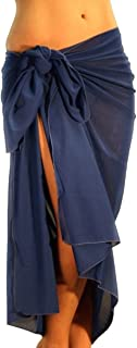 product image for Lifestyles Direct Tan Through Pareo Solid Royal Blue