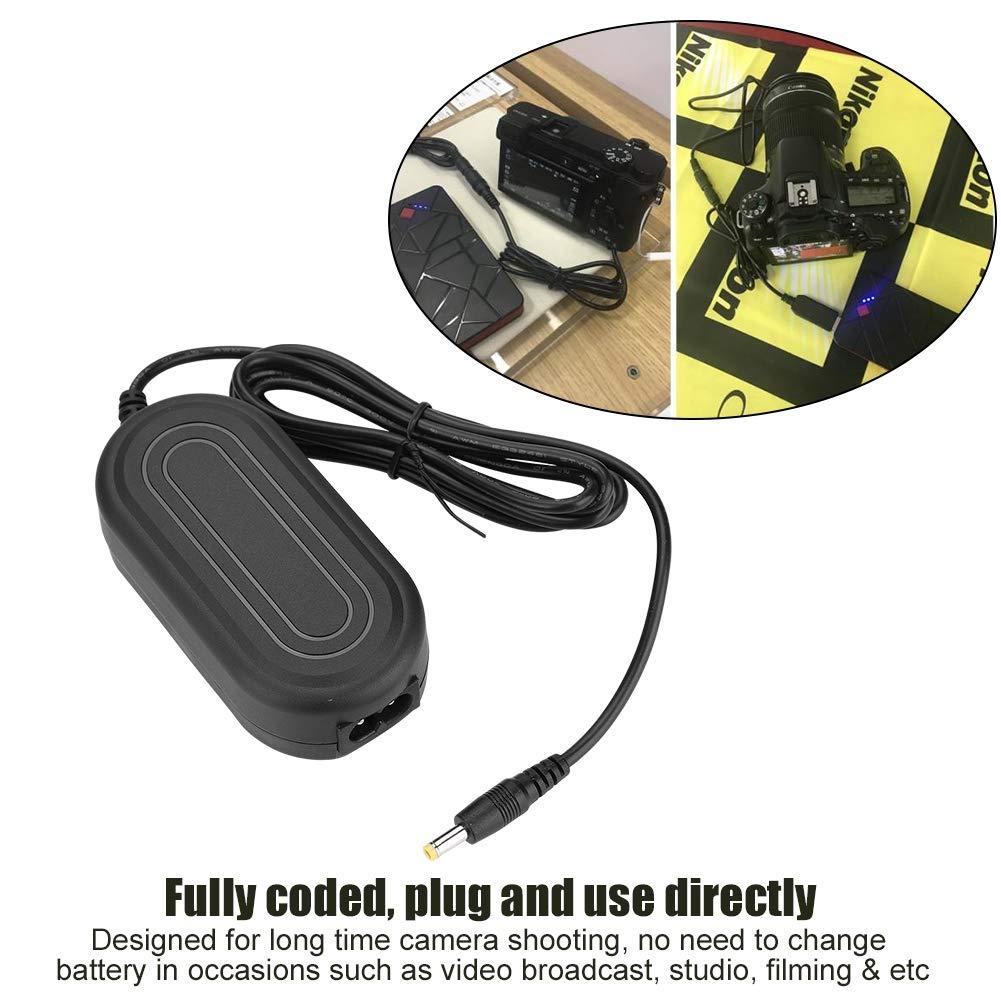 Topiky Adaptador de Corriente del acoplador de CC de bater/ía simulada EN-EL14 para Nikon D5600 D5500 DC5300 D5500 D5600 D3100 D3200 D3300 D3400 Enchufe Negro-UE