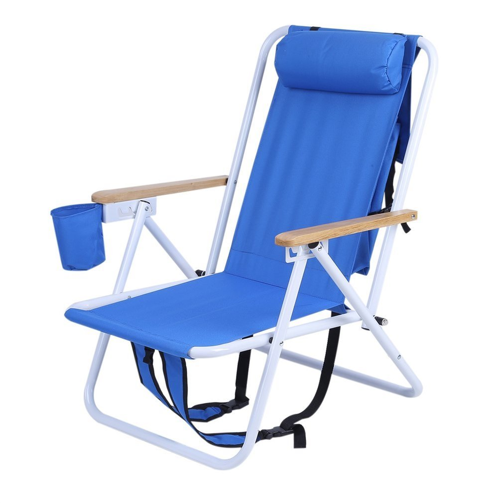 Miraculous Belovedkai Beach Chair Folding Beach Lounge Cooler Chair Camping Beach Backpack Chair With Storage Pouch Cup Holder Adjustable Outdoor Furniture Pdpeps Interior Chair Design Pdpepsorg