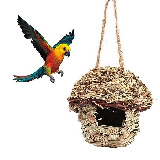 Haofy Casa para Pájaros de Nido Colgado Jaula para Mascotas para ...