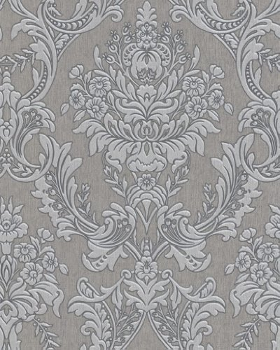 Graham Brown Legacy Province Damask Wallpaper Grey By