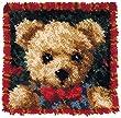 MCG Textiles Boy Bear Latch Hook Pillow Kit
