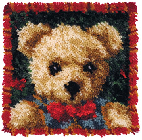 Bear Latch Pillow Hook (MCG Textiles Boy Bear Latch Hook Pillow Kit)