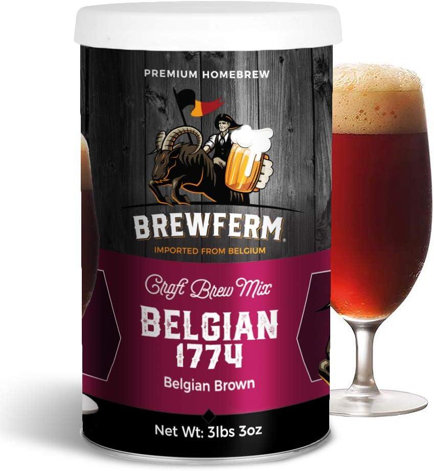 Brewferm Belgian 1774 (Belgian Brown) Belgian Homebrew Craft Beer Mix - makes 15 liters or 4 gallons of beer