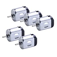 MagiDeal 5pcs 6V 130 Motor DC Small Motor for DIY Shaft Gear Model Car Aircraft Boats