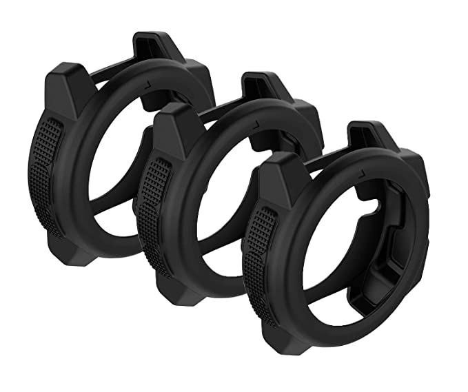 SplenSun for Garmin Instinct Watch Replacement Covers Cases,Silicone  Protective Cover Rugged Armor Anti-Scratch Bezel Protector for Garmin  Instinct