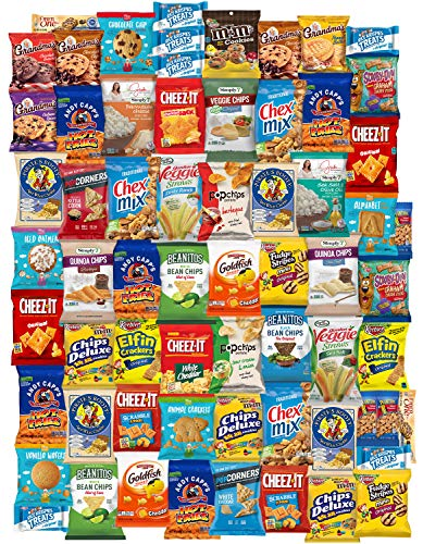 (Ultimate Snacks Chips Cookies Candy Variety Assortment Pack Bulk Sampler Care Package by Variety Fun (65 Count))