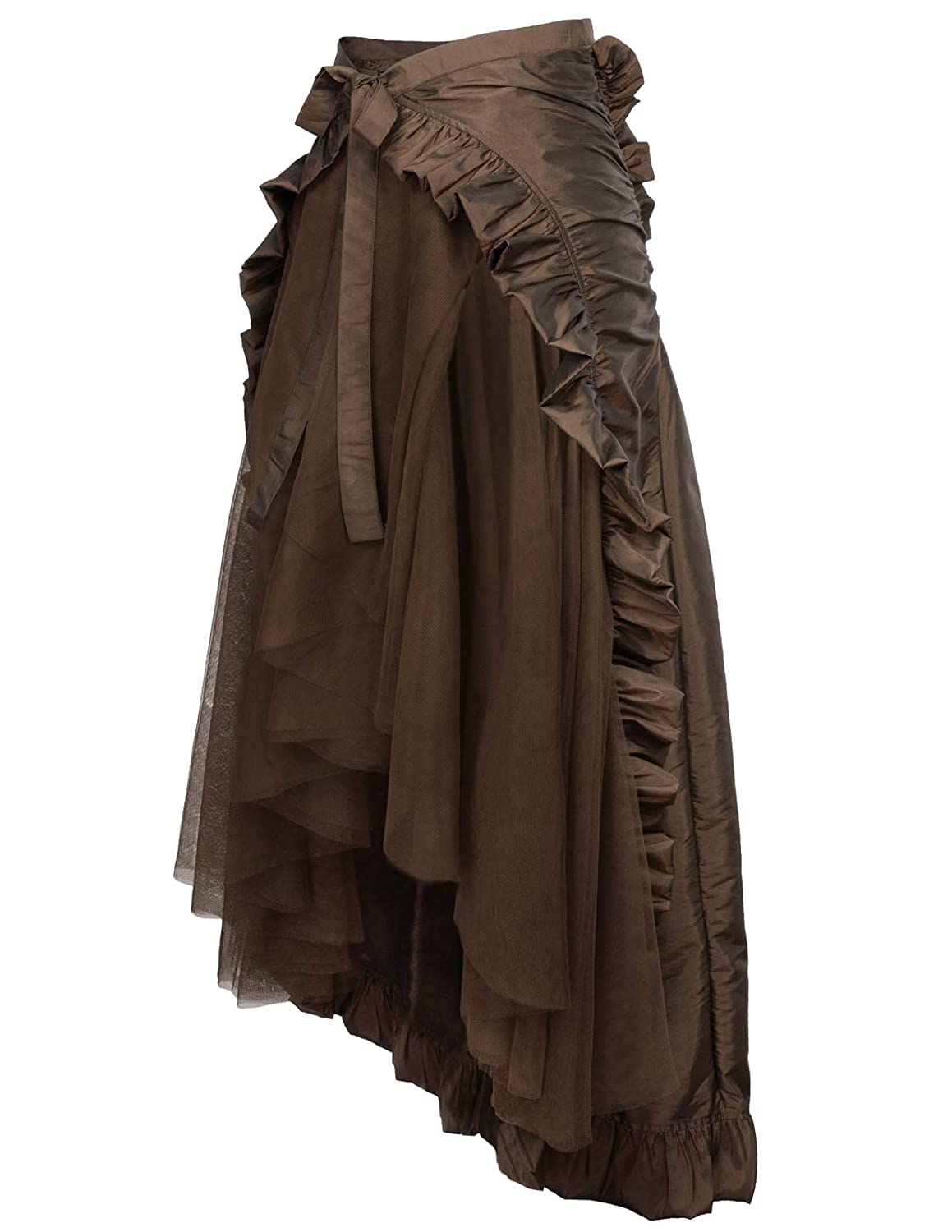 c7821be5bf34 Women's Steampunk Gothic Skirt Victorian Ruffles Pirate Skirt Wrap/Cape at  Amazon Women's Clothing store: