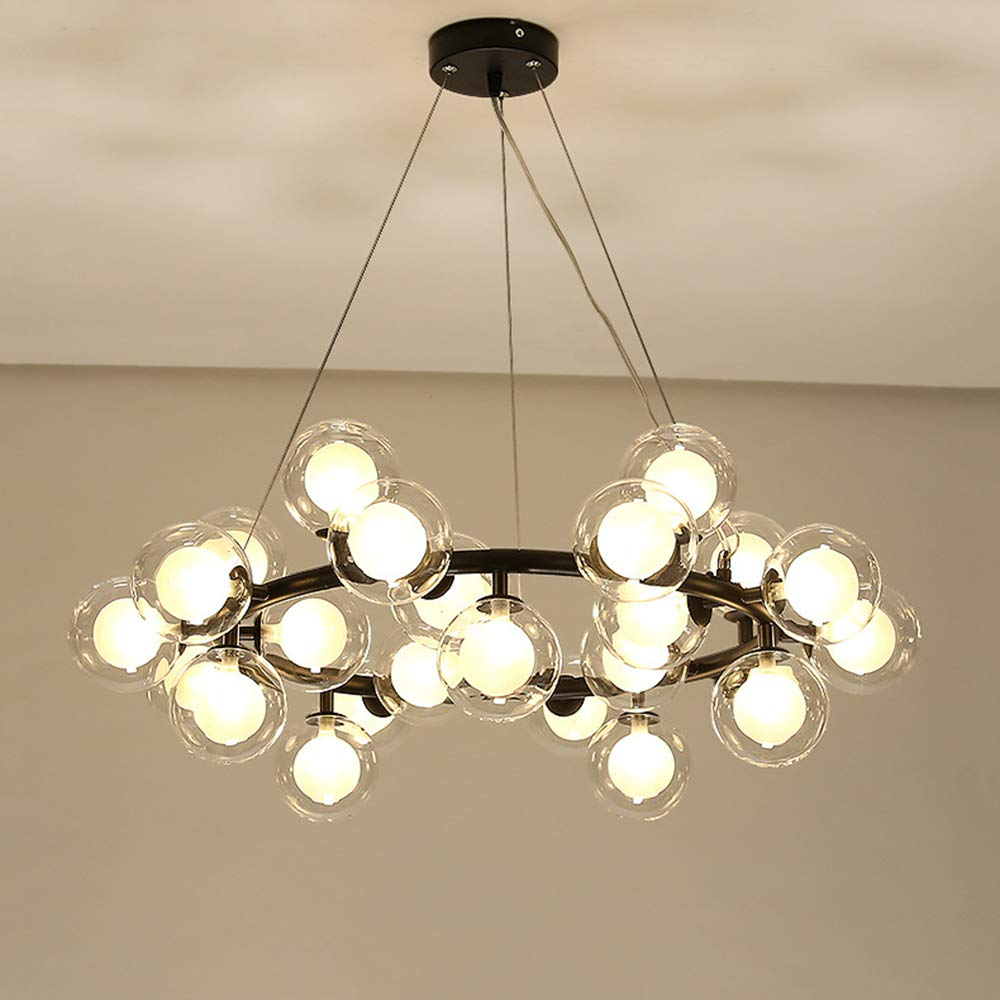 Litfad modern chandelier light fixture 25 light adjustable led