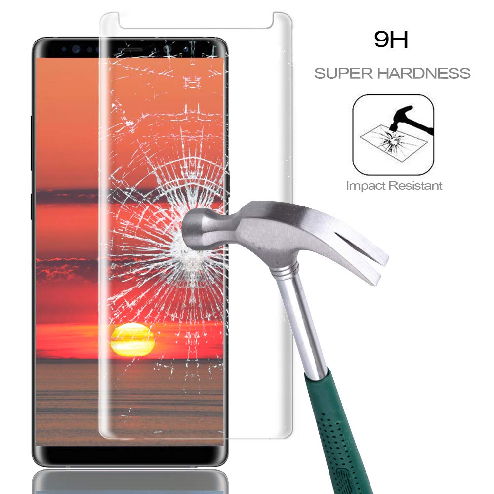 [2Pack] Galaxy Note 8 Screen Protector, 3D Full Screen Coverage Glass [Curved] [Bubble-Free] [9H Hardness] [Anti-Scratch] Clear Galaxy Note 8 Tempered Glass Screen Protectors for Samsung Galaxy Note 8 by AsianiCandy (Image #6)