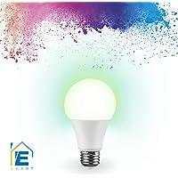 Estévez ES-E81193-09-RGB Lámpara inteligente LED RGB Smart A19 con Tecnología WiFi Compatible con Alexa y Google