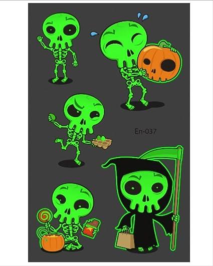 MAGRF Tatuaje de Halloween para niños Que Brilla intensamente Taty ...