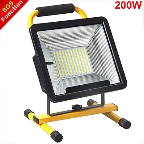 Foco LED Recargable Portátil LED 200W, Lámpara Proyector Batería ...