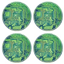 MSD Round Coasters Image ID 27264430 Vintage looking Detail of an electronic printed circuit board