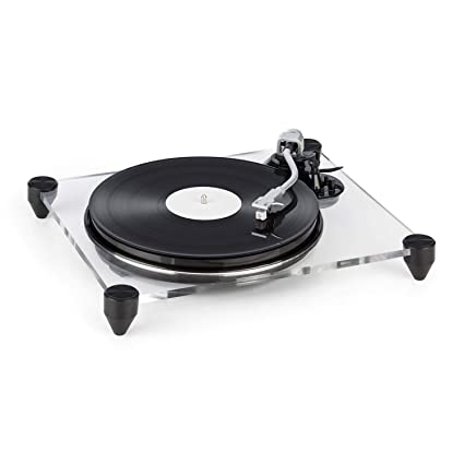 auna TT-Pure Turntable with Preamp - Record Player, MM Pickup System ,  Auto-Stop , Pitch Control , Retro Design , Recording Function to Convert  Vinyl