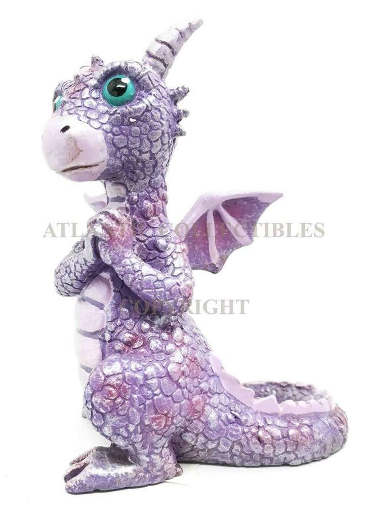 "Summit Collectible Miniature 3.75/""h Purple Dragon Dinosaur Whimsical Figurine"