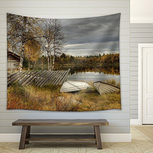 Furusjoen lake Fabric Wall Tapestry