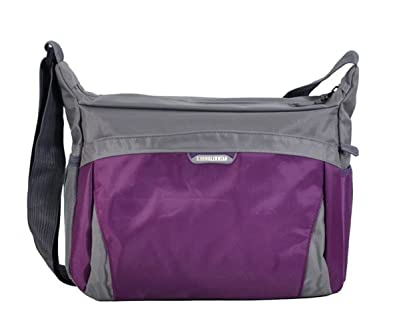 Image Unavailable. Image not available for. Color  FTSUCQ Unisex Nylon  School Shoulder Handbags Casual Totes Messenger Bags Purple Satchels adc0fc62e3c31