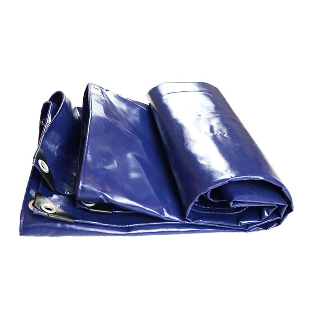 Plane Persenning Blaues Polyäthylen-Planen-Boden-Blatt bedeckt Zelt 550g   m² Unterlage für das Kampieren und im Freien - 100% wasserdicht und UVBesteändig Abdeckplanen (größe   4MX6M)